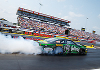 Sep 4, 2017; Clermont, IN, USA; NHRA pro stock driver Alex Laughlin during the US Nationals at Lucas Oil Raceway. Mandatory Credit: Mark J. Rebilas-USA TODAY Sports