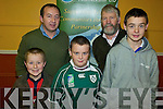 FARMBIZ: Farmers of the future at the Farmbiz meeting in Killorglin on Thursday night were, front l-r: Michael O'Sullivan (Glencar), Patrick Daly (Killorglin), Shane Daly (Killorglin). Back l-r: Emmet Spring and Cllr Johnny O'Connor (South Kerry Partnership).   Copyright Kerry's Eye 2008