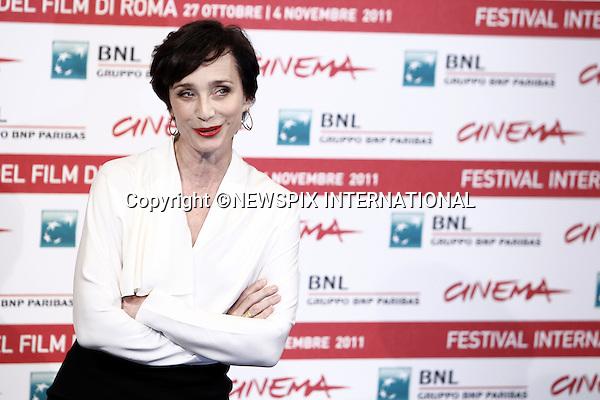 "KRISTIN SCOTT THOMAS.attends the ""La Femme Du Cinquieme"" Photocall at the 6th Rome International Film Festival, Rome, Italy_30/10/2011.Mandatory Credit Photo: ©Matteo Ciambelli/NEWSPIX INTERNATIONAL..**ALL FEES PAYABLE TO: ""NEWSPIX INTERNATIONAL""**..IMMEDIATE CONFIRMATION OF USAGE REQUIRED:.Newspix International, 31 Chinnery Hill, Bishop's Stortford, ENGLAND CM23 3PS.Tel:+441279 324672  ; Fax: +441279656877.Mobile:  07775681153.e-mail: info@newspixinternational.co.uk"