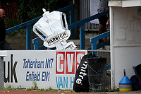 The Harwich tin foil FA Cup arrives during Ilford vs Harwich & Parkeston, Emirates FA Cup Football at Cricklefields Stadium on 10th August 2019
