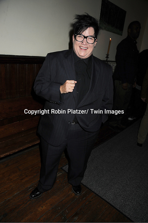"""Lea DeLaria attends The """"Daytime Meets Nighttime"""" hosted by ..The Imperial Court of New York on November 4, 2011 at ..The Jan Hus Theatre in New York City. The benefit was for The Jan Hus Theatre and Lifebeat."""