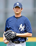 16 March 2007: New York Yankees pitcher Chien-Ming Wang warms up prior to facing the Houston Astros at Osceola County Stadium in Kissimmee, Florida...Mandatory Photo Credit: Ed Wolfstein Photo