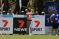 Jason Norris (AUS) on the 11th tee during Round 1 of the Australian PGA Championship at  RACV Royal Pines Resort, Gold Coast, Queensland, Australia. 19/12/2019.<br />
