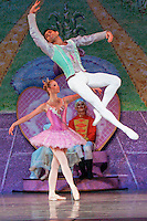 Grigori Arakelyan and Alissa Dale perform Nevada Ballet Theatre's production of the 'Nutcracker' at the Paris Hotel/Casino in Las Vegas, NV.