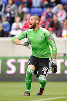 Colorado Rapids goalkeeper Matt Pickens (18). The New York Red Bulls defeated the Colorado Rapids 4-1 during a Major League Soccer (MLS) match at Red Bull Arena in Harrison, NJ, on March 25, 2012.