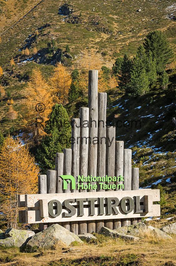 Austria, East-Tyrol, High Tauern National Park, at Staller Sattel passroad connecting Valley Defereggen with Valle d'Anterselva   Oesterreich, Osttirol, Nationalpark Hohe Tauern, am Staller Sattel, die Passstrasse verbindes das Defereggental mit dem Antholzertal in Suedtirol