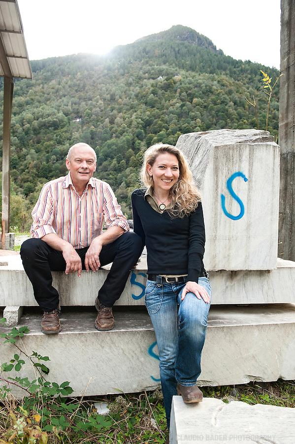 Peccia; Skulpturschule; Ehepaar Naef; Alex Naef. Almute Naef, Direktoren