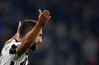 Calcio, Champions League: Gruppo H, Juventus vs Lione. Torino, Juventus Stadium, 2 novembre 2016. <br /> Juventus' Gonzalo Higuain celebrates after scoring on a penalty kick during the Champions League Group H football match between Juventus and Lyon at Turin's Juventus Stadium, 2 November 2016. The game ended 1-1.<br /> UPDATE IMAGES PRESS/Isabella Bonotto