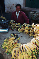 Man selling bananas, Madagascar, Africa