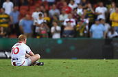 2nd December 2017, Brisbane, Australia;  Rugby League World Cup - England versus Australia - Land Park, Brisbane, Australia . England's James Graham reacts after losing to Australia in the final.