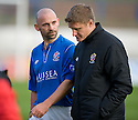 Cowdenbeath Manager Colin Cameron and Assistant Manager Lee Makel at the end of the game ...
