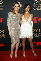 6 January 2018 - Los Angeles, California - Madchen Amick and Mina Tobias. Showtime Golden Globe Nominee Celebration held at the Sunset Tower Hotel in Los Angeles. Photo Credit: AdMedia