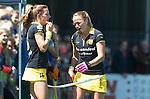 BILTHOVEN - HOCKEY -  Maartje Paumen raakt geblesseerd aan haar mond    tijdens    de eerste finale wedstrijd in de hoofdklasse tussen de vrouwen van SCHC en Den Bosch (1-2 GG) . . COPYRIGHT KOEN SUYK