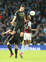 Rodri of Manchester City wins a header during Aston Villa vs Manchester City, Caraboa Cup Final Football at Wembley Stadium on 1st March 2020