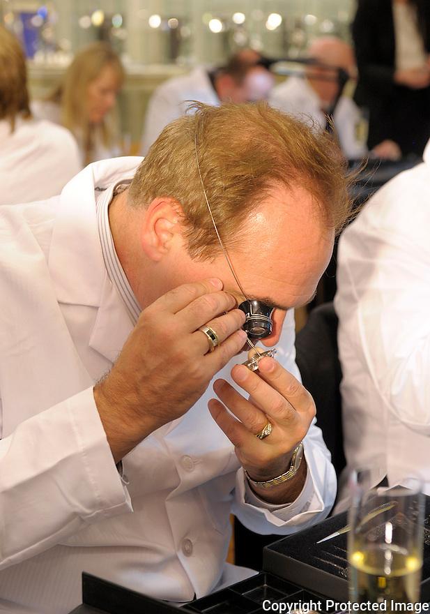 Tourbillon Watchmaker training at South Coast Plaza 12/1/11