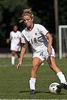 Boston College midfielder Kristen Mewis (19) dribbles. Boston College defeated University of Virginia, 2-0, at the Newton Soccer Field, on September 18, 2011.