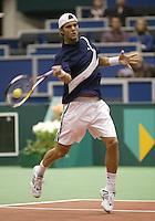 21-2-06, Netherlands, tennis, Rotterdam, ABNAMROWTT,   Mathieu in action against Santoro