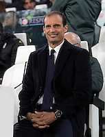Calcio, Champions League: Gruppo H, Juventus vs Lione. Torino, Juventus Stadium, 2 novembre 2016. <br /> Juventus coach Massimiliano Allegri waits for the start of the Champions League Group H football match between Juventus and Lyon at Turin's Juventus Stadium, 2 November 2016. The game ended 1-1.<br /> UPDATE IMAGES PRESS/Isabella Bonotto