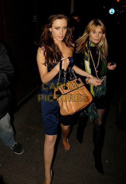 CAMILLA AL FAYED.At Kabaret Club, London, UK..March 30th, 2006.Ref: SW.full length brown leather bag purse walking.www.capitalpictures.com.sales@capitalpictures.com.©Capital Pictures.