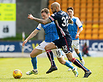 St Johnstone v Ross County&hellip;12.05.18&hellip;  McDiarmid Park    SPFL<br />David McMillan is tackled by Liam Fontaine<br />Picture by Graeme Hart. <br />Copyright Perthshire Picture Agency<br />Tel: 01738 623350  Mobile: 07990 594431