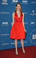 Emma Stone at the British Independent Film Awards (BIFA) 2018, Old Billingsgate Market, Lower Thames Street, London, England, UK, on Sunday 02 December 2018.<br /> CAP/CAN<br /> &copy;CAN/Capital Pictures