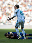 Sergio Ramos of Real Madrid reacts as Luis Alberto Suarez Diaz of FC Barcelona lies injured on the pitch during the La Liga 2017-18 match between Real Madrid and FC Barcelona at Santiago Bernabeu Stadium on December 23 2017 in Madrid, Spain. Photo by Diego Gonzalez / Power Sport Images