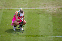 Mona Barthel rues a wasted chance<br /> <br /> Photographer Alex Dodd/CameraSport<br /> <br /> Tennis - WTA World Tour -Nature Valley Open Tennis Tournament - Day 3 - Wednesday 13th June 2018 - Nottingham Tennis Centre - Nottingham<br /> <br /> World Copyright &copy; 2018 CameraSport. All rights reserved. 43 Linden Ave. Countesthorpe. Leicester. England. LE8 5PG - Tel: +44 (0) 116 277 4147 - admin@camerasport.com - www.camerasport.com