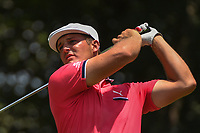 Bryson DeChambeau (USA) watches his tee shot on 12 during round 4 of the Fort Worth Invitational, The Colonial, at Fort Worth, Texas, USA. 5/27/2018.<br /> Picture: Golffile | Ken Murray<br /> <br /> All photo usage must carry mandatory copyright credit (© Golffile | Ken Murray)