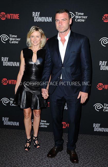 WWW.ACEPIXS.COM<br /> <br /> June 25 2013, LA<br /> <br /> Actress Naomi Watts and actor Liev Schreiber arriving at a screening of 'Ray Donovan' at DGA Theater on June 25, 2013 in Los Angeles, California<br /> <br /> By Line: Peter West/ACE Pictures<br /> <br /> <br /> ACE Pictures, Inc.<br /> tel: 646 769 0430<br /> Email: info@acepixs.com<br /> www.acepixs.com