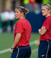 Erica Walsh, Dawn Scott. The USWNT defeated Sweden, 3-0.