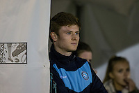 James Ferry of Wycombe Wanderers watches his new teammates during the Sky Bet League 2 rearranged match between Bristol Rovers and Wycombe Wanderers at the Memorial Stadium, Bristol, England on 1 December 2015. Photo by Andy Rowland.