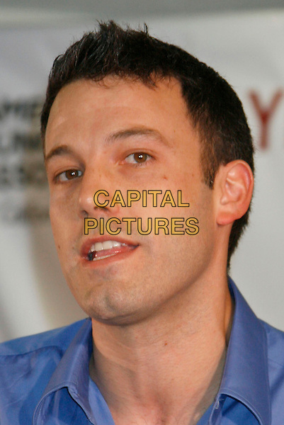 BEN AFFLECK.American Lung Association announces support for Proposition 87 held at the University of Southern California, Los Angeles, California, USA,.27 October 2006..portrait headshot blue shirt funny mouth open teeth chin.Ref: ADM/RE.www.capitalpictures.com.sales@capitalpictures.com.©Russ Elliot/AdMedia/Capital Pictures.