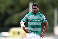 Nemani Nagusa of Newcastle Falcons looks on. Pre-season friendly match, between Doncaster Knights and Newcastle Falcons on August 25, 2018 at Castle Park in Doncaster, England. Photo by: Patrick Khachfe / Onside Images
