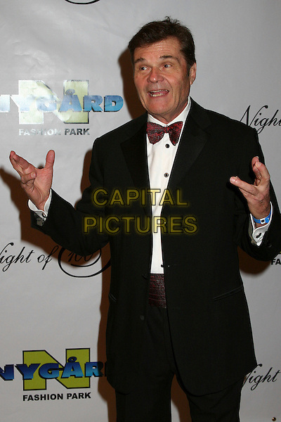 "FRED WILLARD.17th Annual ""Night of 100 Stars"" Oscar Gala at the Beverly Hills Hotel, Beverly Hills, California, USA..February 25th, 2007.half length black suit jacket hands bow tie .CAP/ADM/BP.©Byron Purvis/AdMedia/Capital Pictures"
