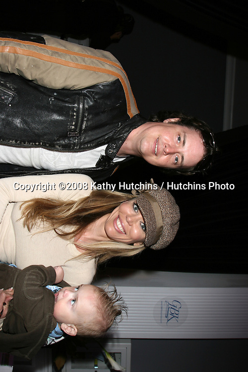 Jeremy London & Wife Melissa Cunningham, with thier baby.GBK Productions Oscar Gifting Suite.Boulevard3.Los Angeles, CA.February 23, 2008.©2008 Kathy Hutchins / Hutchins Photo....