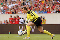 Manchester United goalkeeper Tomasz Kuszczak (29). Manchester United (EPL) defeated the Philadelphia Union (MLS) 1-0 during an international friendly at Lincoln Financial Field in Philadelphia, PA, on July 21, 2010.