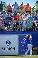 Sung Kang (USA) watches his tee shot on 1 during Round 4 of the Zurich Classic of New Orl, TPC Louisiana, Avondale, Louisiana, USA. 4/29/2018.<br /> Picture: Golffile | Ken Murray<br /> <br /> <br /> All photo usage must carry mandatory copyright credit (&copy; Golffile | Ken Murray)