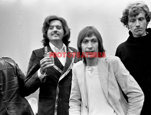 Rolling Stones 1970 Charlie Watts with producer  Jimmy Miller..
