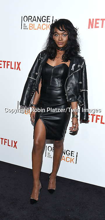 Elise Johnson attends NexFlix's &quot;Orange is the New Black&quot; 4th Season New York Premiereon June 16, 2016 at the SVA Theatre in New York City, NY, USA.<br /> <br /> photo by Robin Platzer/Twin Images<br />  <br /> phone number 212-935-0770
