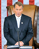 United States House Speaker John Boehner (Republican of Ohio) makes remarks at the opening of the 112th Congress in the U.S. Capitol in Washington, D.C. on Wednesday, January 5, 2011..Credit: Ron Sachs / CNP.(RESTRICTION: NO New York or New Jersey Newspapers or newspapers within a 75 mile radius of New York City)