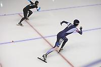 SCHAATSEN: CALGARY: Olympic Oval, 09-11-2013, Essent ISU World Cup, 500m, Hyun-Yung Kim (KOR), ©foto Martin de Jong