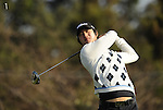 JEJU, SOUTH KOREA - APRIL 23: Kim Do-hoon of Korea tees off on the 18th hole during the Round Two of the Ballantine's Championship at Pinx Golf Club on April 23, 2010 in Jeju island, South Korea. Photo by Victor Fraile / The Power of Sport Images