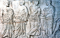 Greek Arts:  Parthenon Sculptures, East Frieze III-IV.  Officials of Eponymous Heroes of the Athenian tribes.  Trustees of British Museum 1986.