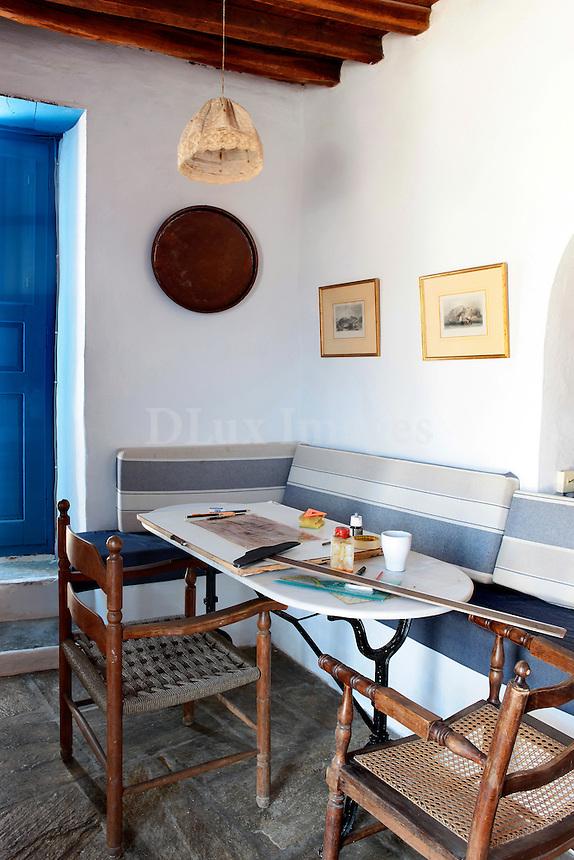 traditional cycladic dining room