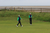 Ronan Mullarney and Tiernan McLarnon from Ireland on the 7th green during Round 3 Foursomes of the Men's Home Internationals 2018 at Conwy Golf Club, Conwy, Wales on Friday 14th September 2018.<br /> Picture: Thos Caffrey / Golffile<br /> <br /> All photo usage must carry mandatory copyright credit (&copy; Golffile | Thos Caffrey)