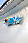 14 December 2006: Cathleen Martini, of Germany, pilots her sled through a turn during a training run in preparation for the World Cup Bobsleigh Competition at the Olympic Sports Complex on Mount Van Hoevenburg  in Lake Placid, New York, USA.&amp;#xA;&amp;#xA;Mandatory Photo credit: Ed Wolfstein Photo<br />