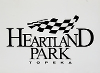 May 20, 2017; Topeka, KS, USA; Detailed view of the logo for Heartland Park Topeka during NHRA qualifying for the Heartland Nationals. Mandatory Credit: Mark J. Rebilas-USA TODAY Sports