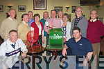 FIRST: Aiden Carmody chairman of Na Gaeil GAA Club, Kileen, Oakpark, Tralee drew the first ticket in their first Lotto GAA Na Gaeil Draw on Monday looking on were members of the club l-r: Mike Walsh, Pat Daly, Michael Golden, Joe Clifford, Mary Maunsell, Pat O'Connor, Aidan Carmody (chairman), Sean O'Connor (Club Manager), Kathy Carey, Tim Lynch (PRO), John Ashe and Denis Moriarty...