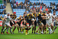 Nathan Hughes of Wasps breaks clear of a scrum. European Rugby Champions Cup quarter final, between Wasps and Exeter Chiefs on April 9, 2016 at the Ricoh Arena in Coventry, England. Photo by: Patrick Khachfe / JMP