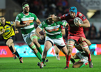 Scarlets' Tadhg Beirne in action during todays match<br /> <br /> Photographer Ashley Crowden/CameraSport<br /> <br /> Guinness PRO12 Round 19 - Scarlets v Benetton Treviso - Saturday 8th April 2017 - Parc y Scarlets - Llanelli, Wales<br /> <br /> World Copyright &copy; 2017 CameraSport. All rights reserved. 43 Linden Ave. Countesthorpe. Leicester. England. LE8 5PG - Tel: +44 (0) 116 277 4147 - admin@camerasport.com - www.camerasport.com